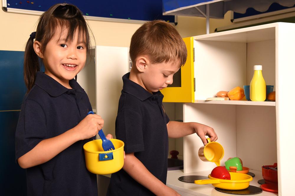 Pre-School children learning through play