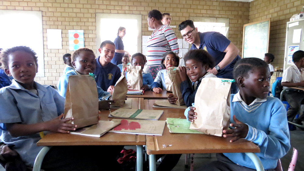 "Marist Brothers Linmeyer students are ""bread buddies"""
