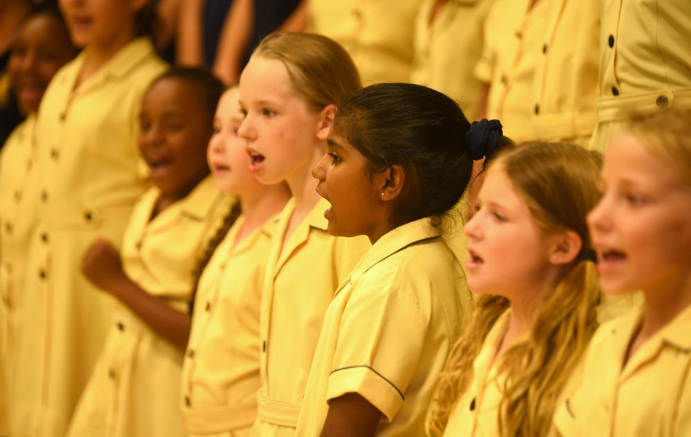 The Marist Primary School Choir Singing