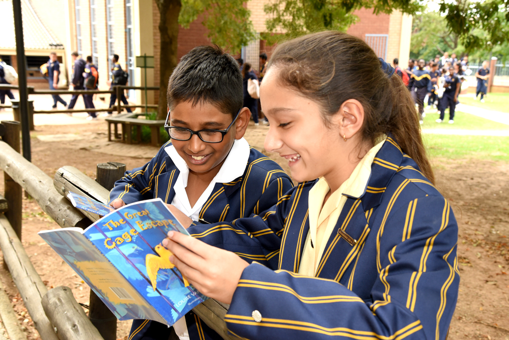 Students enjoy reading