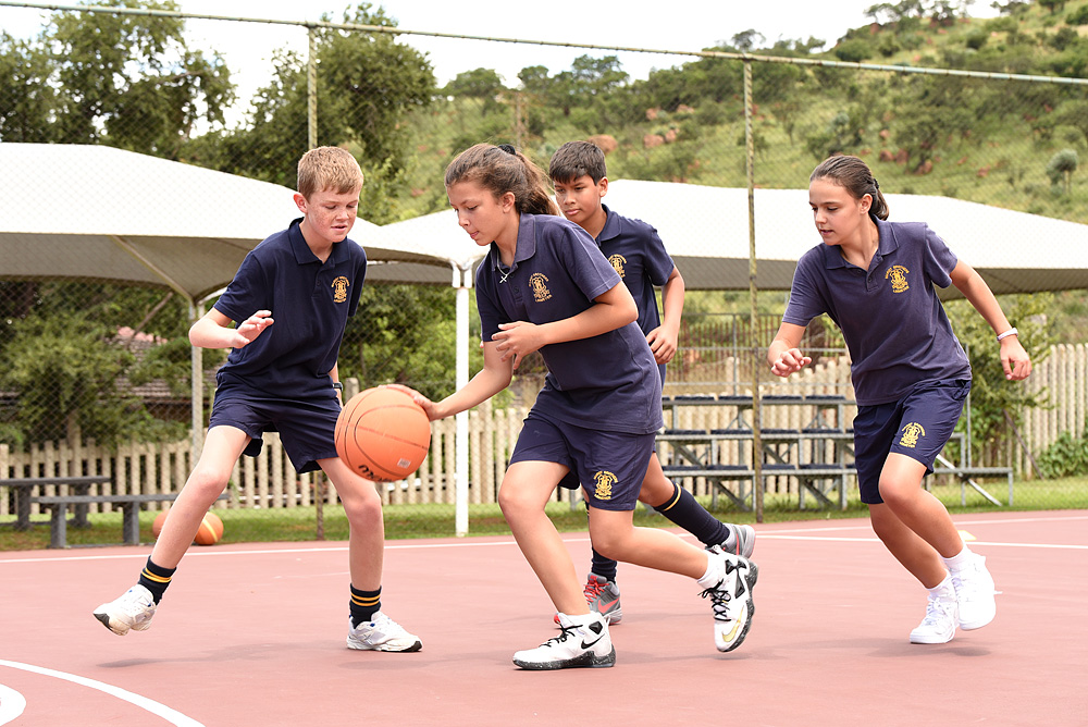 Baketball is very popular with our Primary School students