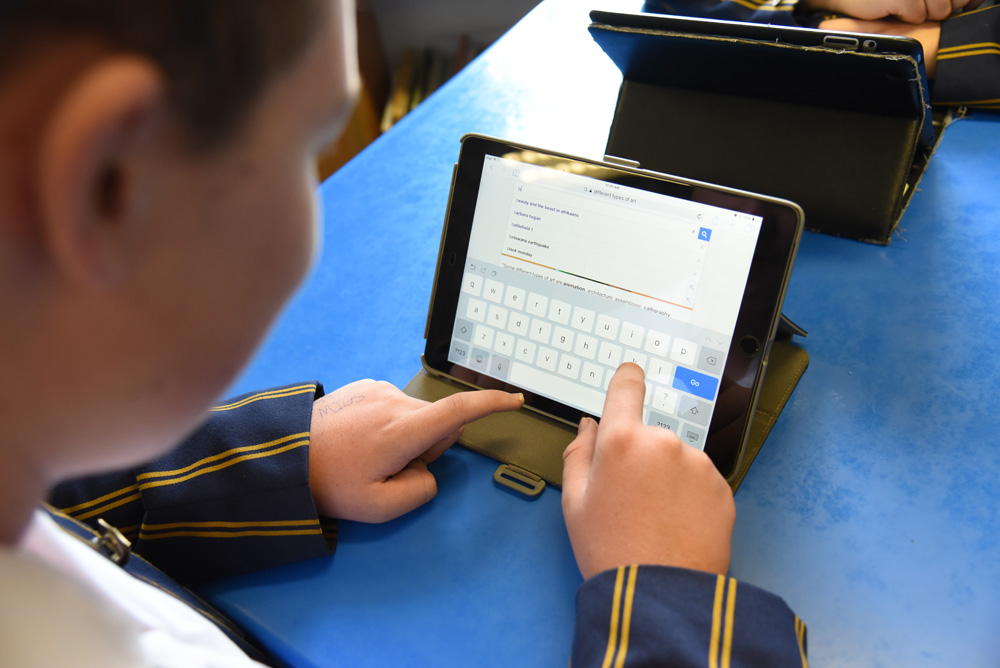 In 2017, the students across all grades were encouraged to bring iPads to school to start integrating it into their learning experience
